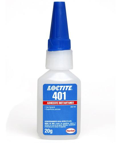 Adesivo Instantâneo Loctite 401 - Uso Geral 20g 268687