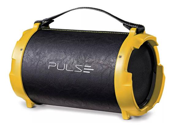 Caixa De Som Bazooka Acabamento De Couro 40w Pulse