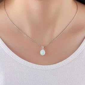 Colar Exclusivo White Opal Prata 925