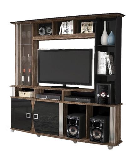 Rack Tv Modular Led Lcd Muebles Living Modelo Roma 9105