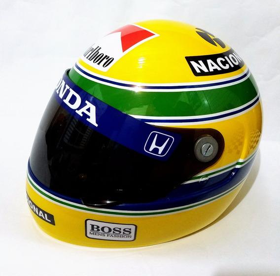 Replica Capacete Ayrton Senna + Viseira Fume + Brindes!!!!