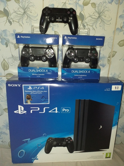 Playstation 4 Ps4 Pro + 3 Controles