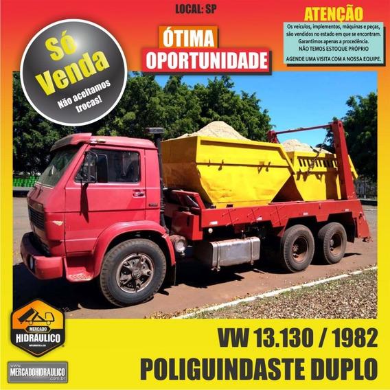 Vw 13.130 / 1982 - Poliguindaste Duplo