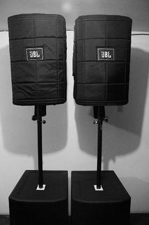 2 Parlantes Amplificados Jbl Prx 715 + Fundas Originales