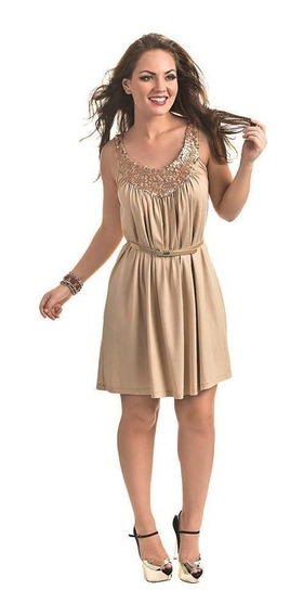 Vestido De Viscolycra Com Paete Cod. 5681