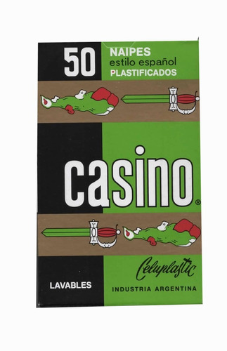 Imagen 1 de 3 de Naipe Casino Españolas 50 Naipes Plastificado Estilo Español