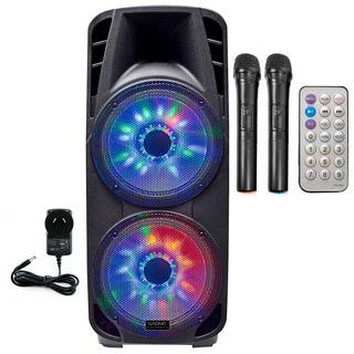 Parlante Bluetooth Portable Karaoke + Control Remoto + 2 Mic