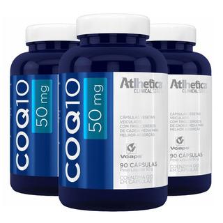Coenzima Q10 50mg - 3x 90 Cápsulas - Atlhetica