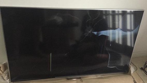 Tv Sony 43 Polegadas Com Controle E Fonte, Lcd,tela Quebrada