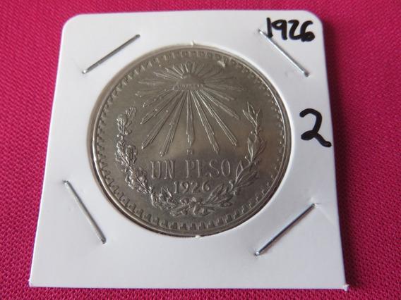 Un Peso Resplandor 1926 Plata Ley .720 Circulada