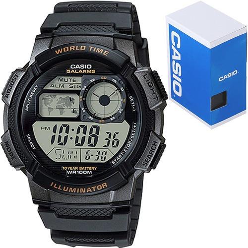 Reloj Casio Ae1000 Negro Sumergible Bateria 10 Años