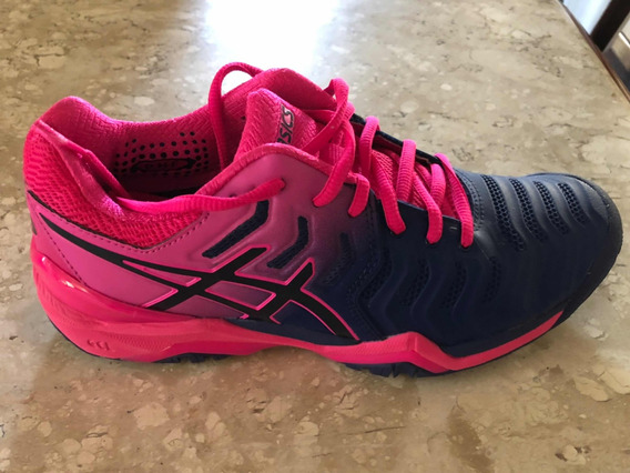 Tênis Asics Gel Resolution 7 Azul E Pink Feminino
