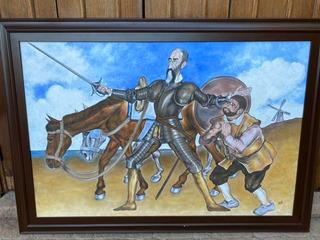 Pintura Al Óleo Don Quijote