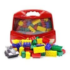 Maleta Blocos De Montar Mix Carro - Vermelha - Bell Toy