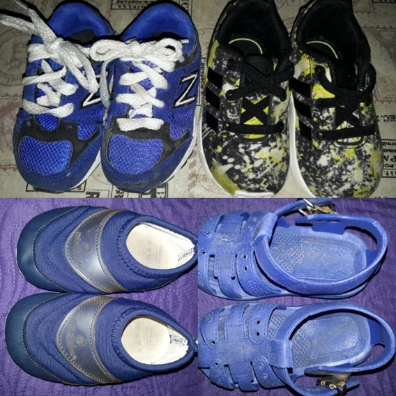 Zapatillas adidas, New Balance Y + Talle 20. Todas X 1500!