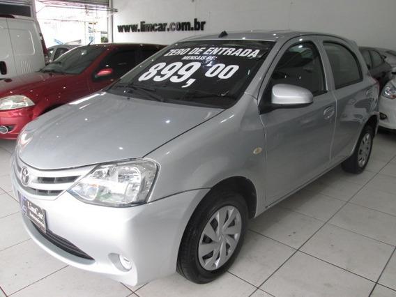 Toyota Etios 1.3 X 2017 Zero De Entrada Unico Dono