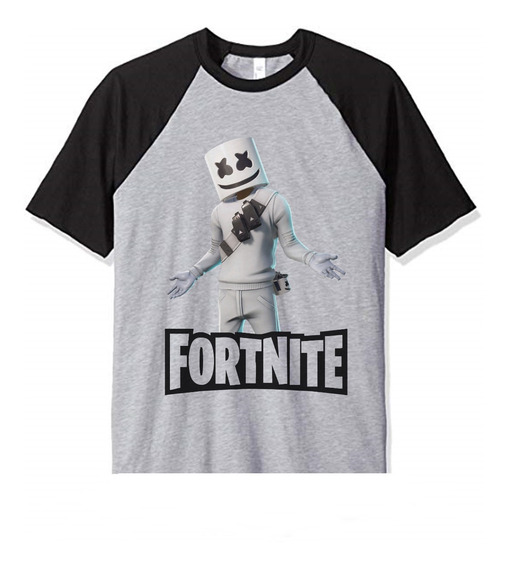 Remera Marshmello Fortnite Logo Mod3 Unisex Adulto