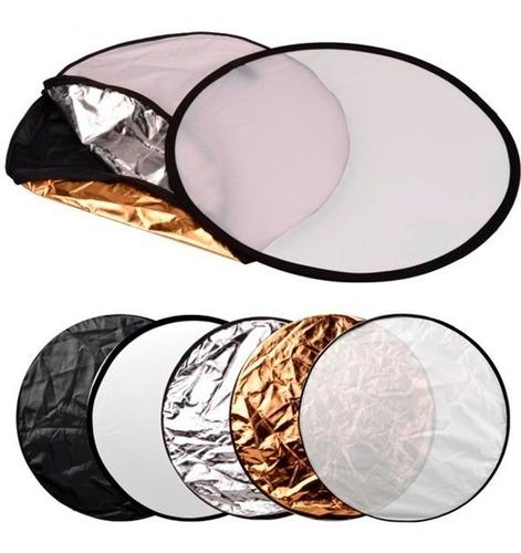 Disco Reflector Luz 5 En 1 Pleg.80cm Fotografia Iluminacion®