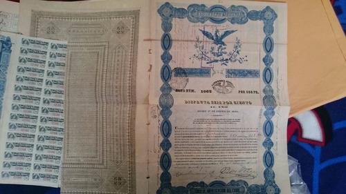 Bonos Mexicanos: Águila Azul De 500 Pesos Año 1844