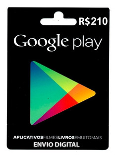 Crédito Google Play Store Gift Card R$210 Reais Br Android