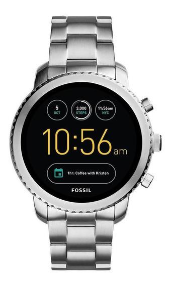 Relógio Fossil Masculino Q Explorist Prata - Ftw4000/1ki