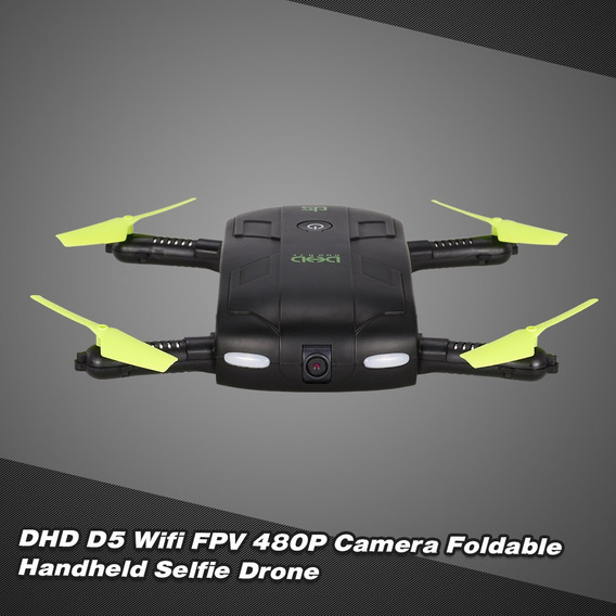 Dhd D5 Wifi Fpv 480p Camera Foldable Selfie Drone 6-axis