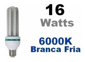 Kit C/ 14 Compacta Milho 16w 4u - 6000k Branca Fria