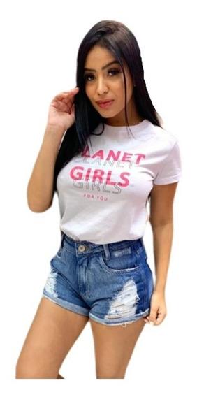 Camiseta Letreiro Planet Girls