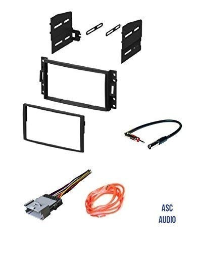 Asc Gm510 Double Din Car Radio Stereo Dash Kit, Wire Harness on double din bracket, double din cover, double din radio, double din trim ring, double din dash panel,