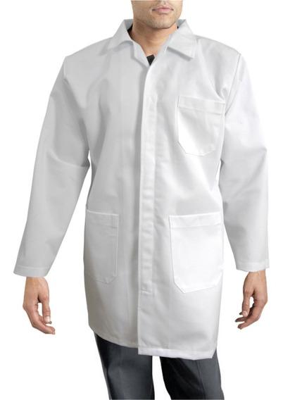 Bata De Laboratorio Clínica Industrial 100% Algodón 30 A 42