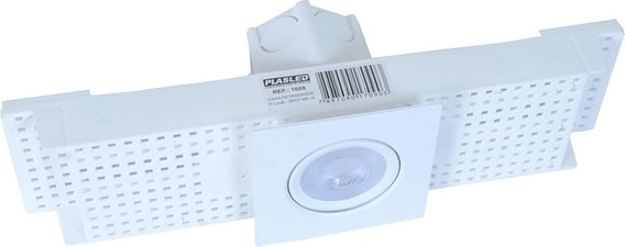 Caixa Embutir Spot Led P/ Laje Plafon 5w Mr16 Plasled 10 Un