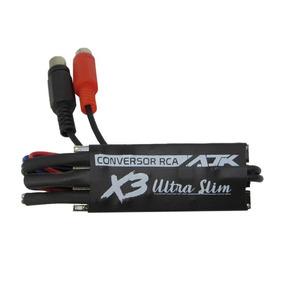 Conversor De Rca Ajk X3 Ultra Slim