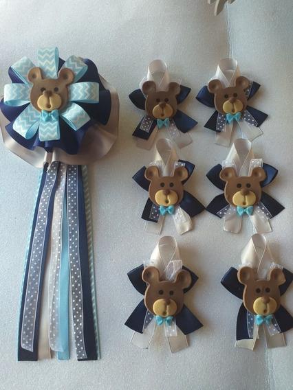 50 Distintivos Osito Mas Corsage Y Corbata Baby Shower
