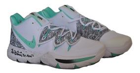 Kp3 Botas Caballeros Nike Kyrie Irving 5 Blanca Verde
