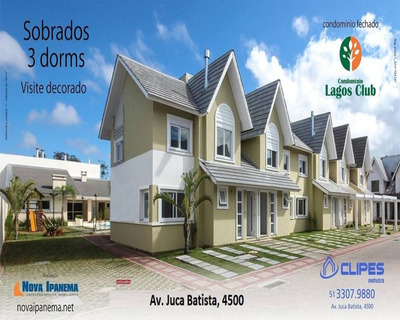Lagos Club, Lagos De Nova Ipanema, Casa Em Condomínio Fechado, Sobrado Em Condomínio, Clube Para Morar - C1578 - 32350237