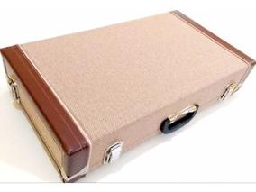 Pedalboard Case Para 10 Pedais Padrão Boss 60x33x11cm Tweed
