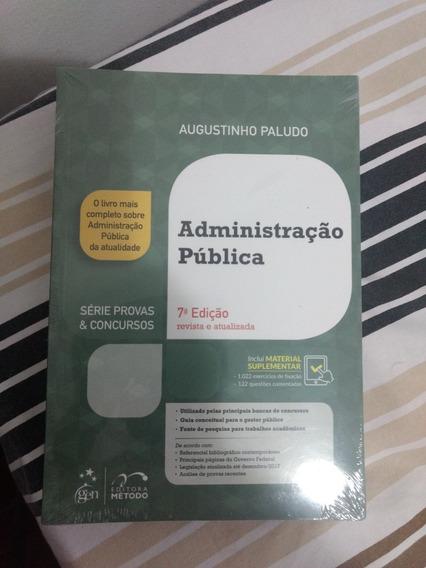 Livro Administração Pública. Novo. No Plástico Ainda!