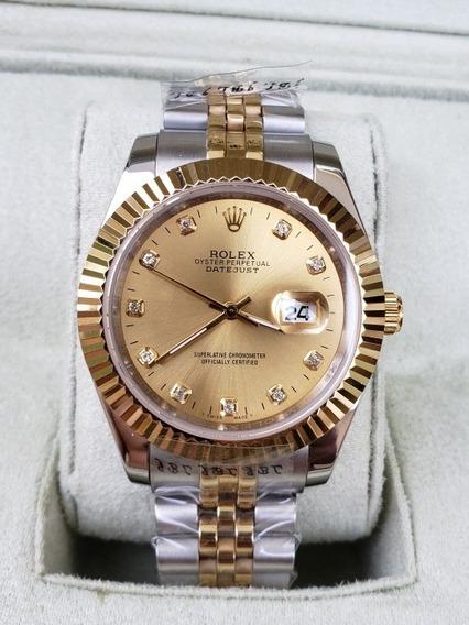 Relógio Rolex Datejust Amarelo Rolesor Top ( Promoção )