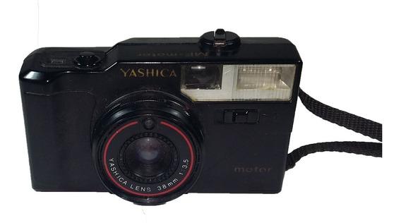 Antiga Câmera Analógica Mf-motor 38mm Lens Yashica No Estado