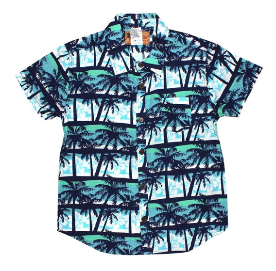 Camisa Hawaiana Para Niño Varios Modelos