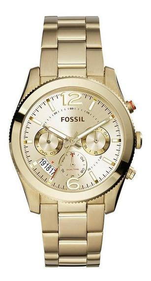 Relógio Fossil Perfect Boyfriend Dourado - Es3884/4dn