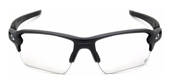 Oakley Flak 2.0 X L Steel / Clear Black Iridium Photochromic