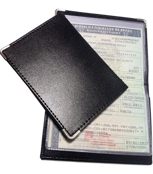 4 Porta Documentos De Carro E Moto Couro Carteira Fina S:241