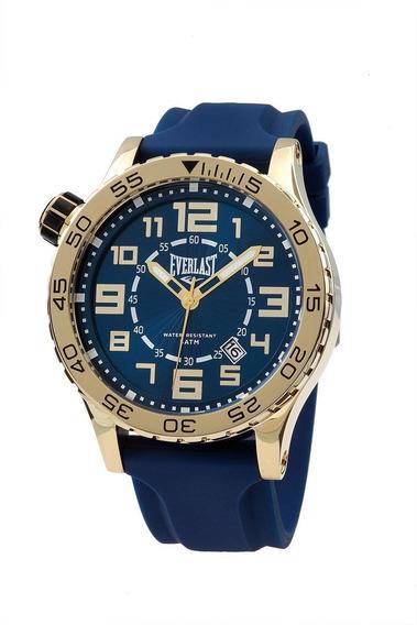 Relógio Pulso Everlast Masculino Calendário Preto E537