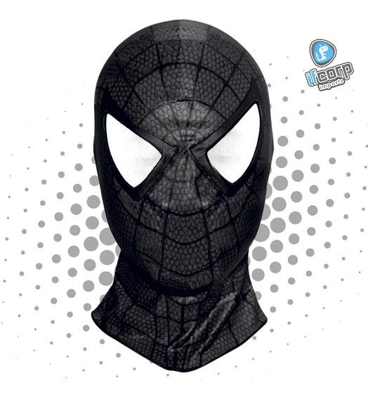 Mascara Disfraz Miles Morales Spiderman Black Negro Spider M