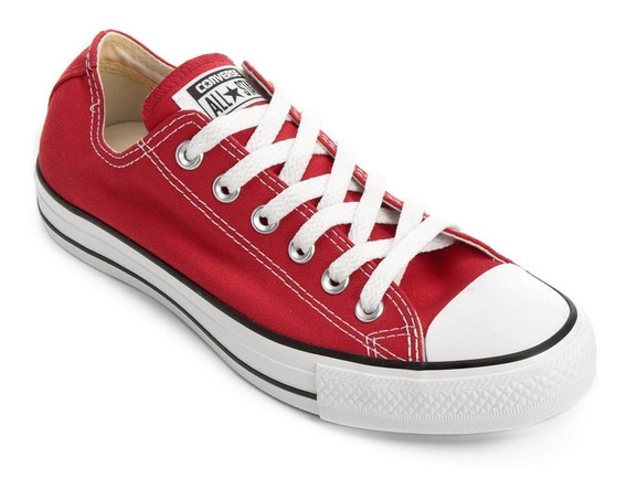 Tênis Unissex All Star Converse Ct As Core Ox Branco Verm.