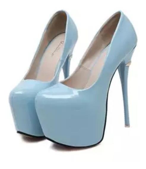 Sapato Salto Alto Feminino Salto 16 Cm - Frete Grátis