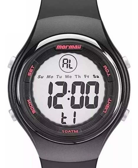 Mormaii Mo0600/8t/8y Relogio Masculino Sport Crono Timer Garantia 1ano Nf Wr100m Lcd-negativo Lcd-normal