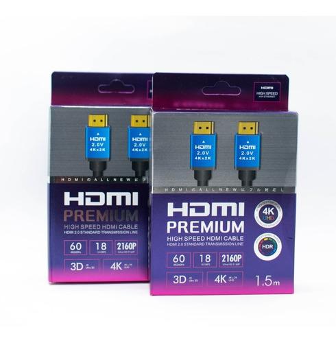 Cable Hdmi 2.0 Premium. 4k/4k Ultra 3d/lcd/tv/ps4/xbox 1.5mt
