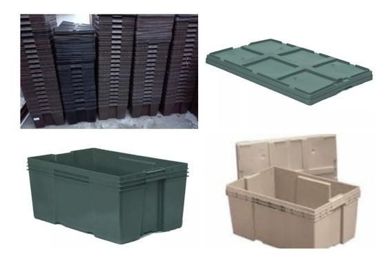 Caja De Plastico Con Tapa Apilable Cerrada Envio Barato